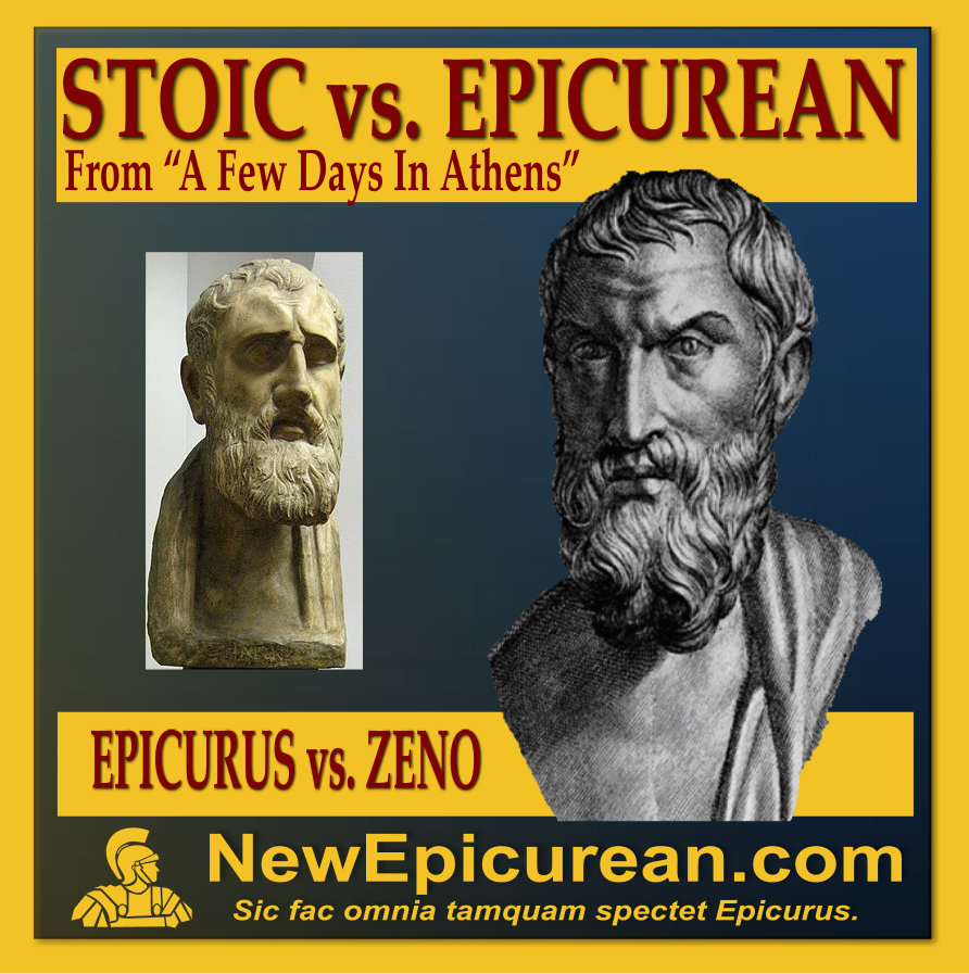 platonist vs epicurean view on the Greek philosophy 14: epicureanism & stoicism for this lecture a pyrrhonian would reply that all evidence so far, including the differences of view amongst dogmatists, would suggest that all is relative, but this is only known relatively.